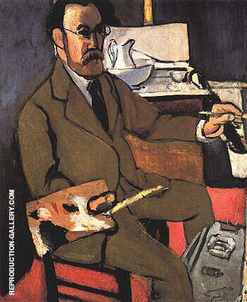 Self Portrait 1918 By Henri Matisse - Oil Paintings & Art Reproductions - Reproduction Gallery