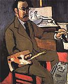Self Portrait 1918 By Henri Matisse