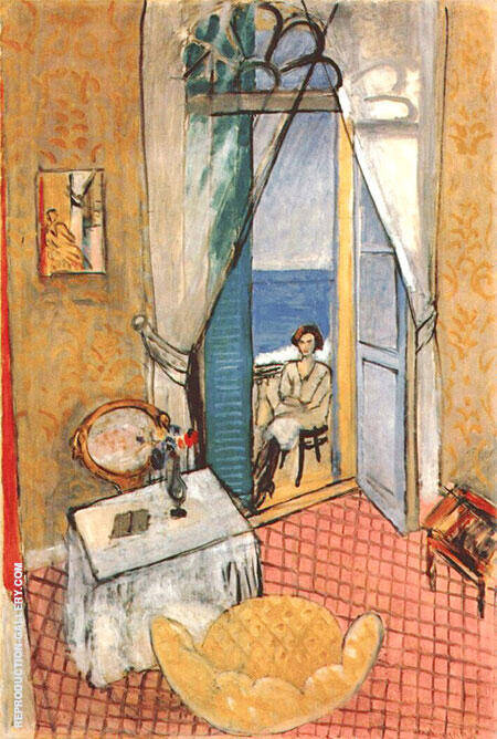 Large Interior Nice 1918 By Henri Matisse - Oil Paintings & Art Reproductions - Reproduction Gallery