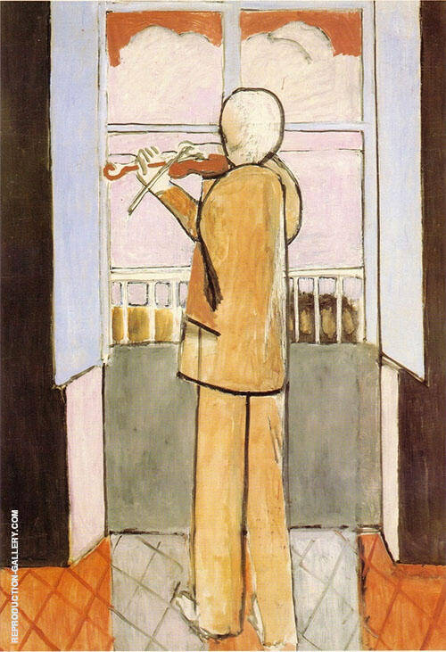 Violinist at the Window 1918 Painting By Henri Matisse