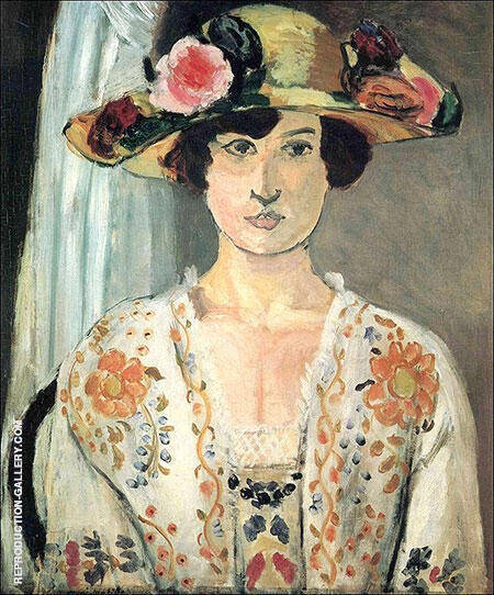 Woman in a Flowered Hat 1919 Painting By Henri Matisse