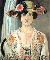 Woman in a Flowered Hat 1919 By Henri Matisse