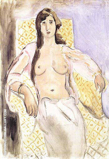 Woman in and Armchair or Antoinette 1910 Painting By Henri Matisse