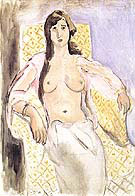 Woman in and Armchair or Antoinette 1910 By Henri Matisse