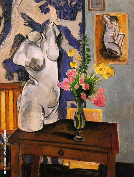 Plaster Figure Bouquet of Flowers 1919 Painting By Henri Matisse