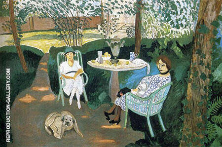Reproduction of Tea in the Garden 1919 by Henri Matisse | Oil Painting Replica On CanvasReproduction Gallery