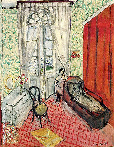 Two Women in an Interior 1920 By Henri Matisse Replica Paintings on Canvas - Reproduction Gallery