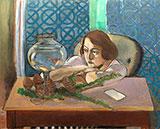 Woman Before an Aquarium 1921 By Henri Matisse