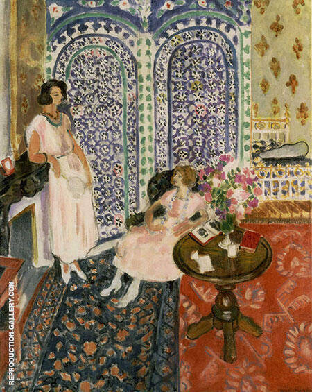 Reproduction of The Moorish Screen 1921 by Henri Matisse | Oil Painting Replica On CanvasReproduction Gallery