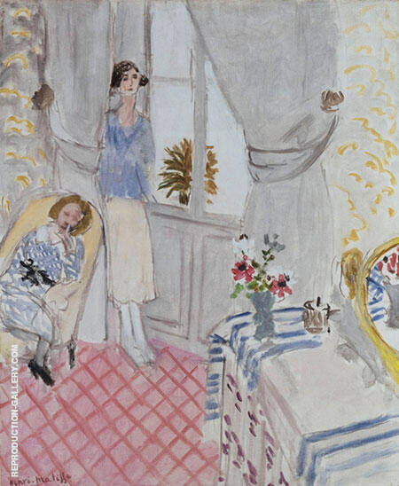 The Boudoir 1921 By Henri Matisse - Oil Paintings & Art Reproductions - Reproduction Gallery
