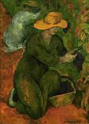 En el Vinedo The Vineyard By Diego Rivera