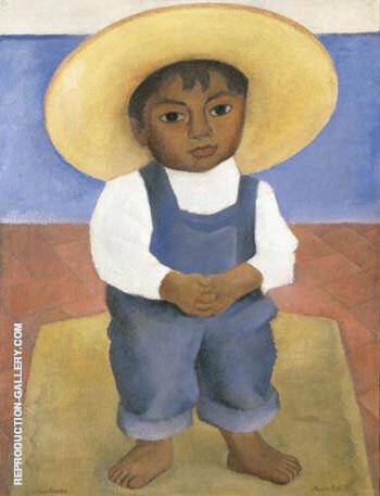 Retrato de Igancio Sanchez By Diego Rivera - Oil Paintings & Art Reproductions - Reproduction Gallery