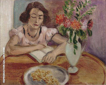 Woman Reading 1922 Painting By Henri Matisse - Reproduction Gallery