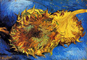 Two Cut Sunflowers By Vincent van Gogh