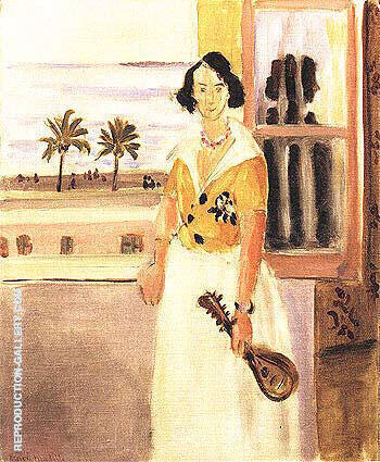 Woman with a Mandolin 1922 Painting By Henri Matisse