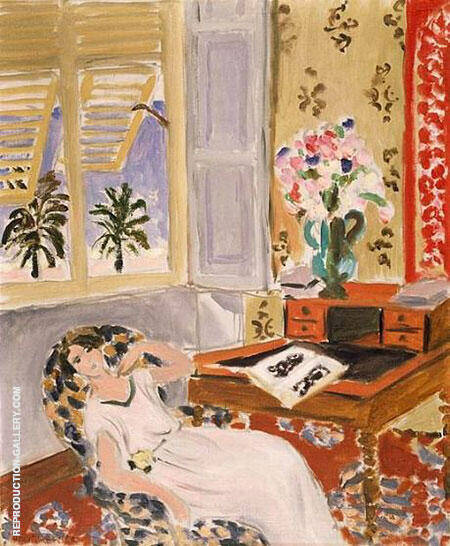 Siesta Interior at Nice 1922 Painting By Henri Matisse