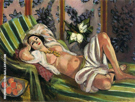 Odalisque with Magnolias 1923 By Henri Matisse - Oil Paintings & Art Reproductions - Reproduction Gallery
