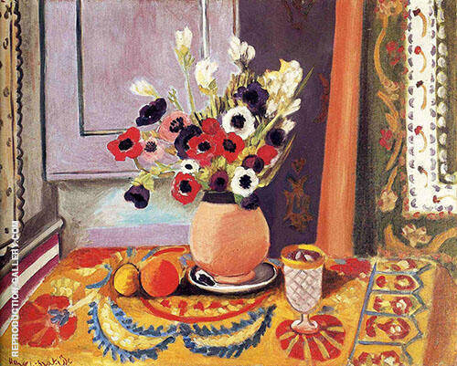Anemones in an Earthenware Vase 1924 Painting By Henri Matisse