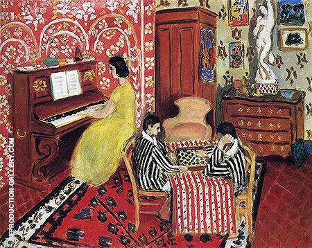 Pianist and Checker Players 1924 Painting By Henri Matisse