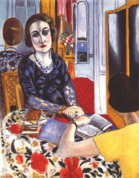 Portrait of Baroness Gourgaud 1924 By Henri Matisse - Oil Paintings & Art Reproductions - Reproduction Gallery