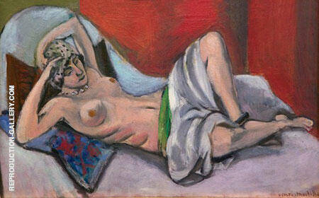 Reclining Nude with Drape Painting By Henri Matisse - Reproduction Gallery