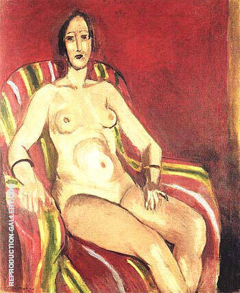 Seated Nude on a Red Backgroud 1925 Painting By Henri Matisse