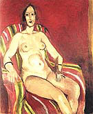 Seated Nude on a Red Backgroud 1925 By Henri Matisse