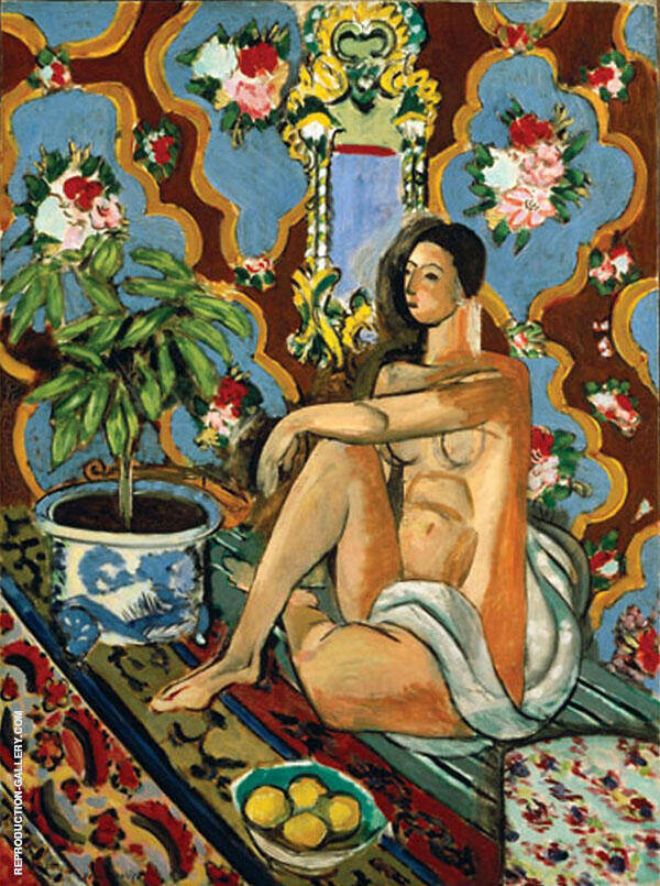 Decorative Figure on an Ornamental Ground 1925 Painting By Henri Matisse