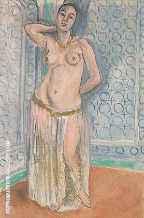Reproduction of Odalisque or The White Slave by Henri Matisse | Oil Painting Replica On CanvasReproduction Gallery