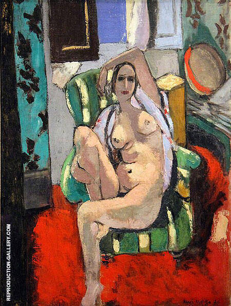 Odalisque with a Tambourine 1926 By Henri Matisse Replica Paintings on Canvas - Reproduction Gallery