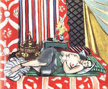 Odalisque with Gray Culottes 1926 Painting By Henri Matisse