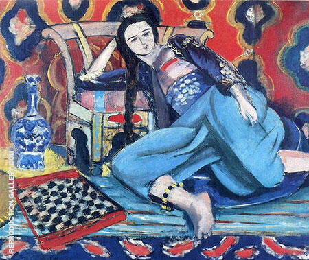 Odalisque with a Turkish Chair 1927 By Henri Matisse - Oil Paintings & Art Reproductions - Reproduction Gallery