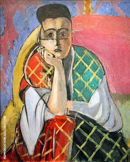 Woman with a Veil 1927 By Henri Matisse Replica Paintings on Canvas - Reproduction Gallery