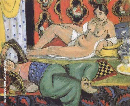 Two Odalisques 1928 By Henri Matisse