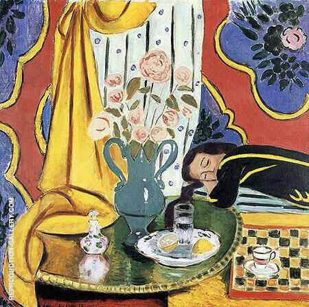Harmony in Yellow 1928 By Henri Matisse - Oil Paintings & Art Reproductions - Reproduction Gallery
