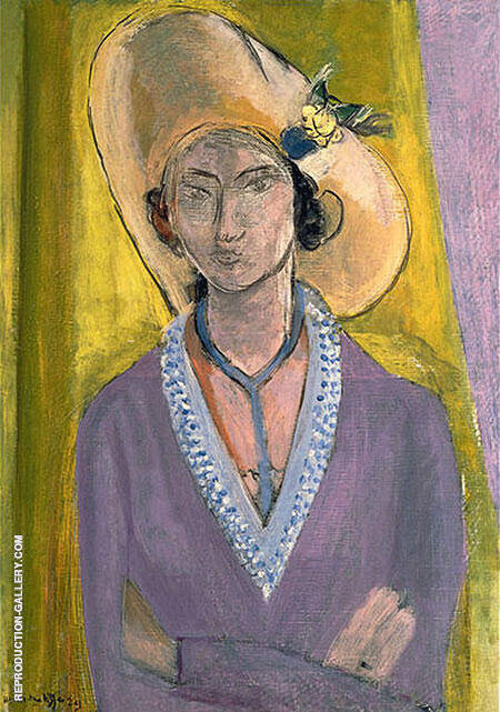 The Yellow Hat Painting By Henri Matisse - Reproduction Gallery