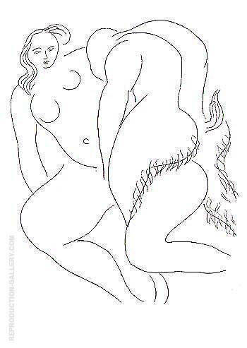 Nymph and Faun Poesies de Mallarme 1932 Painting By Henri Matisse