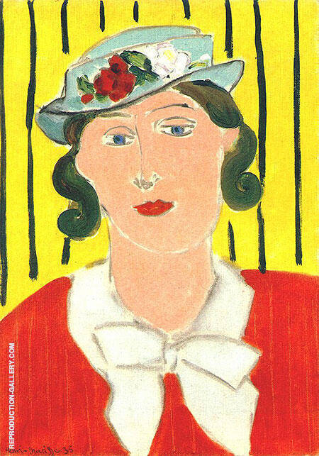 Hat with Roses 1935 Painting By Henri Matisse - Reproduction Gallery
