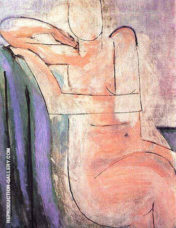 Reproduction of Seated Pink Nude 1935 by Henri Matisse | Oil Painting Replica On CanvasReproduction Gallery