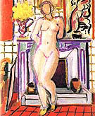 Nude beside a Fireplace 1936 By Henri Matisse