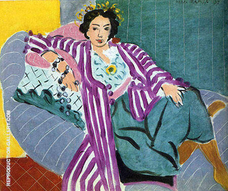 Reproduction of Small Odalisque in a Purple Robe 1937 by Henri Matisse | Oil Painting Replica On CanvasReproduction Gallery