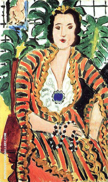 Portrait of Helene Galitzine 1937 By Henri Matisse