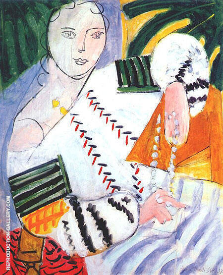 The Romanian Blouse with Green Sleeves 1937 By Henri Matisse - Oil Paintings & Art Reproductions - Reproduction Gallery