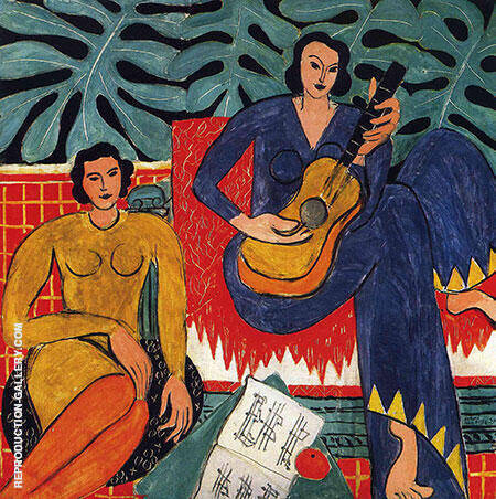 Reproduction of Music 1939 by Henri Matisse | Oil Painting Replica On CanvasReproduction Gallery