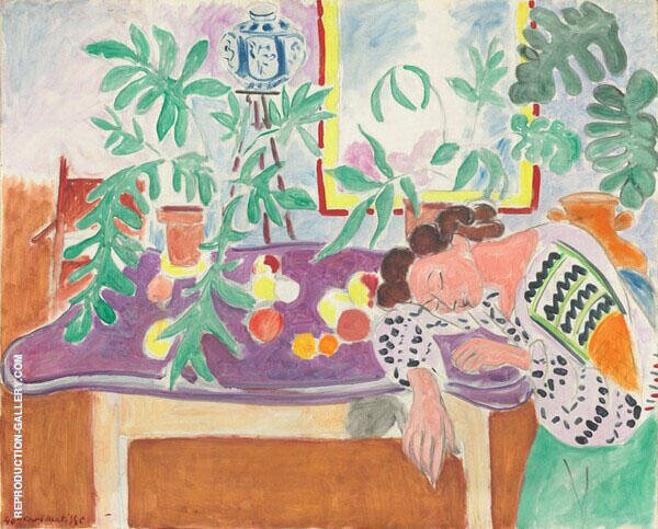 Still Life with a Sleeping Woman 1939 Painting By Henri Matisse