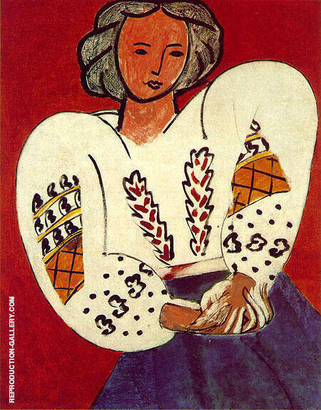 The Romanian Blouse 1940 By Henri Matisse