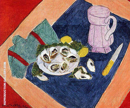 Still Life with a Oysters 1940 By Henri Matisse - Oil Paintings & Art Reproductions - Reproduction Gallery