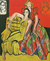 Two Girls The Yellow and Plaid Skirt 1941 By Henri Matisse