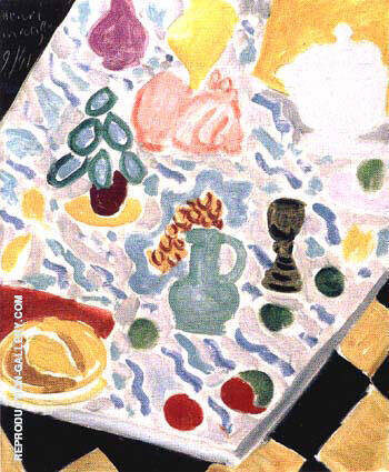 Still Life with Green Marble Table 1941 By Henri Matisse Replica Paintings on Canvas - Reproduction Gallery
