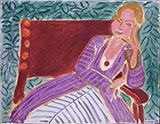 Seated Young Woman in a Persian Dress 1942 By Henri Matisse